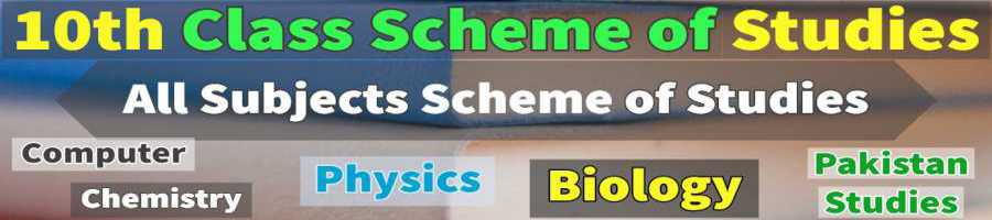 10th Pairing Schemes Lahore Board all Subjects