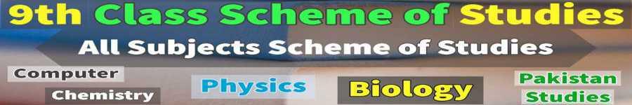 BISE Lahore 9th Pairing Schemes all Subjects Latest
