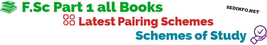 Rawalpindi Board FSc First Year Pairing Scheme of Studies all Subjects