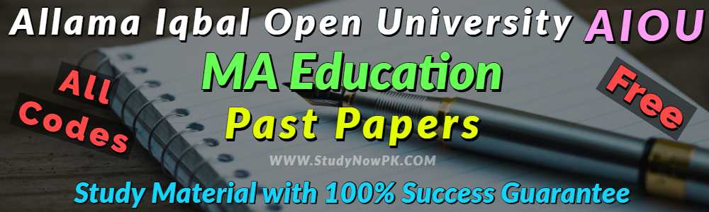 AIOU-MA-Special-Education-Past-Papers-All-Codes