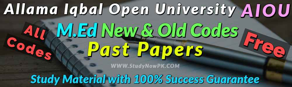AIOU MEd Code 834 Past Papers