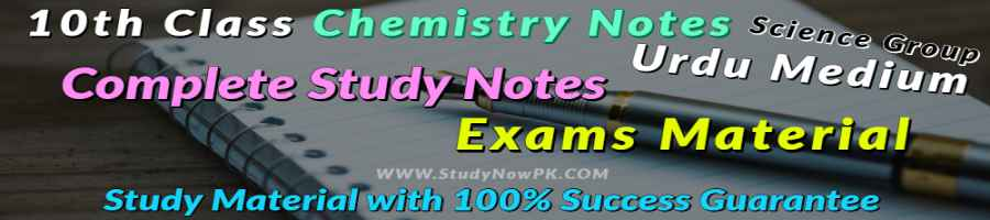 Download 10th Chemistry Notes Urdu Medium of All Chapter