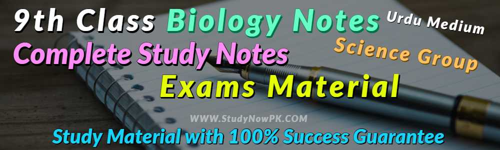 Download 9th Class Biology Notes Urdu Medium of All Chapter