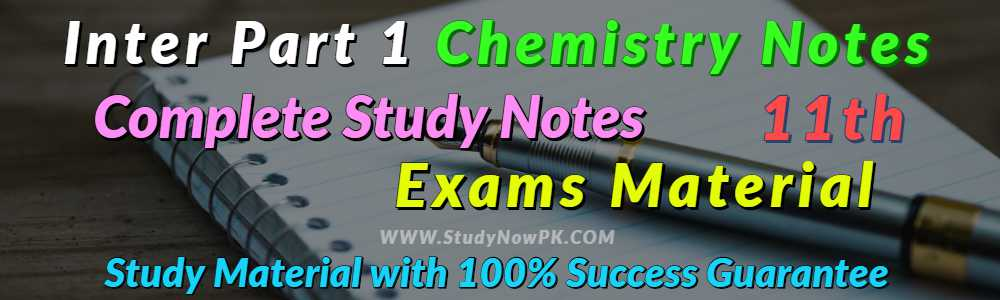 Download Chemistry Notes FSc 1st Year Complete Book Notes