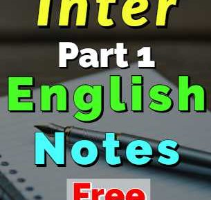 Download English Notes Inter FA FSc Part 1 English Book 1 & 3 fi