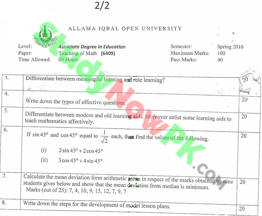 aiou-code-6409-BEd-Past-Papers-Spring-2016.(2)