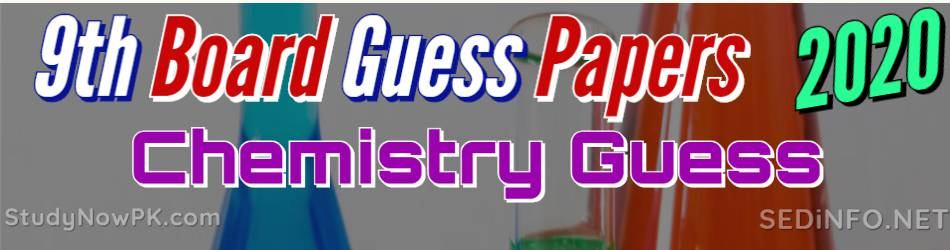 9th Chemistry Guess Papers with Sure Success Latest